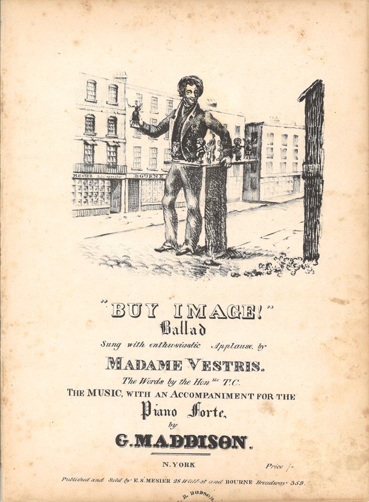The cover of the ballad sheet music BuyImage! showing an image-seller