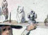 Plaster of Paris cat sketched by William Hone